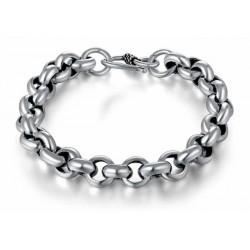 Brazalete de plata de ley 925 unisex