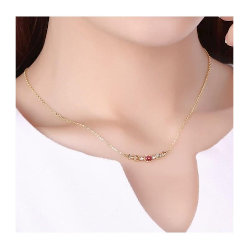 Collar de plata 925 con piedras preciosas