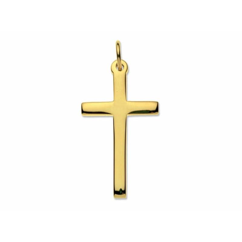 Collar de oro cruz cristiana