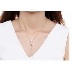 Collar de perlas chapado oro 18k con piedras cristal
