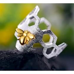 anillos de plata de insectos