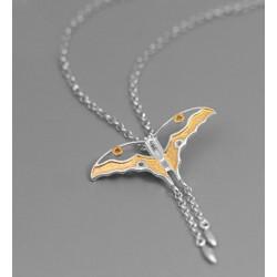 Collar de plata 925 colgante mariposa