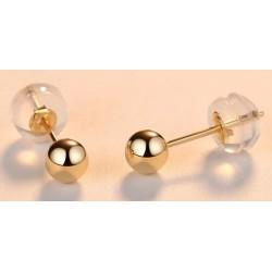 Pendientes esfera de oro 18 k