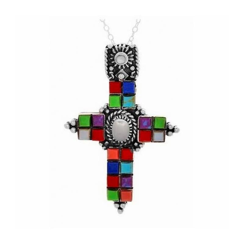 cruz de plata de joyería Europea
