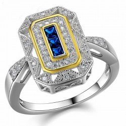 Anillos de promesa con piedras azules