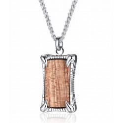 Set de collar y pulsera madera palisandro