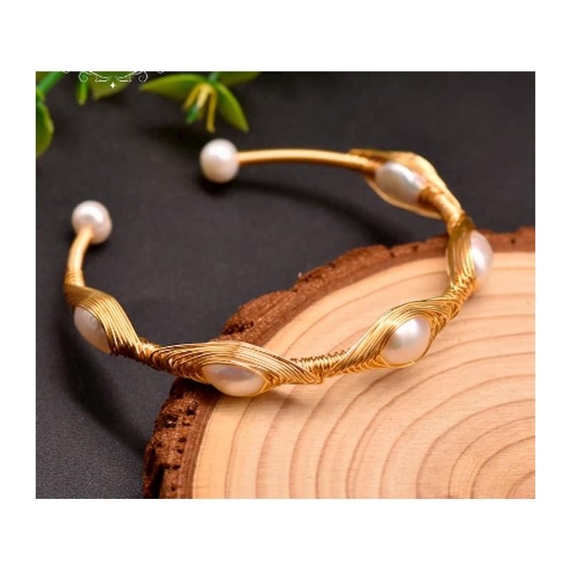 Pulseras de perlas naturales