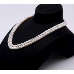 Collar gargantilla de perlas blancas