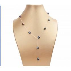 Collar de perlas negras