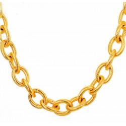 Collar y pulseras chapado oro