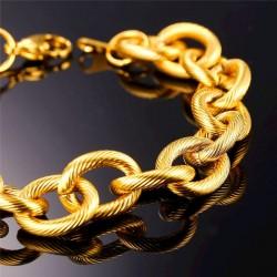 Pulseras de cobre chapadas oro