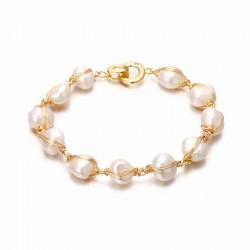 Pulsera perlas naturales de 9 mm