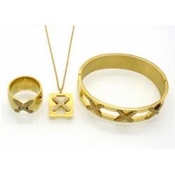 Conjunto collar, pulsera y anillo
