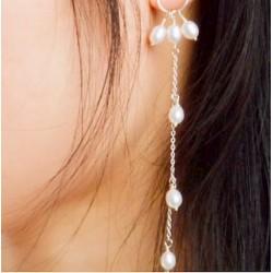 Pendientes largos de perlas...