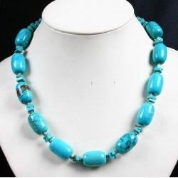 Collar de turquesas azules