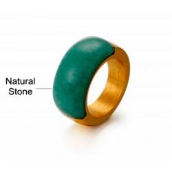 anillos con piedras naturales grandes