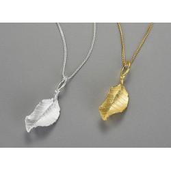 Colgante hojas de plata