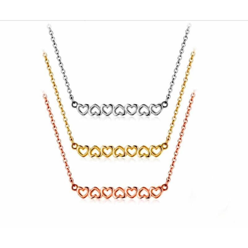 collar corazon oro