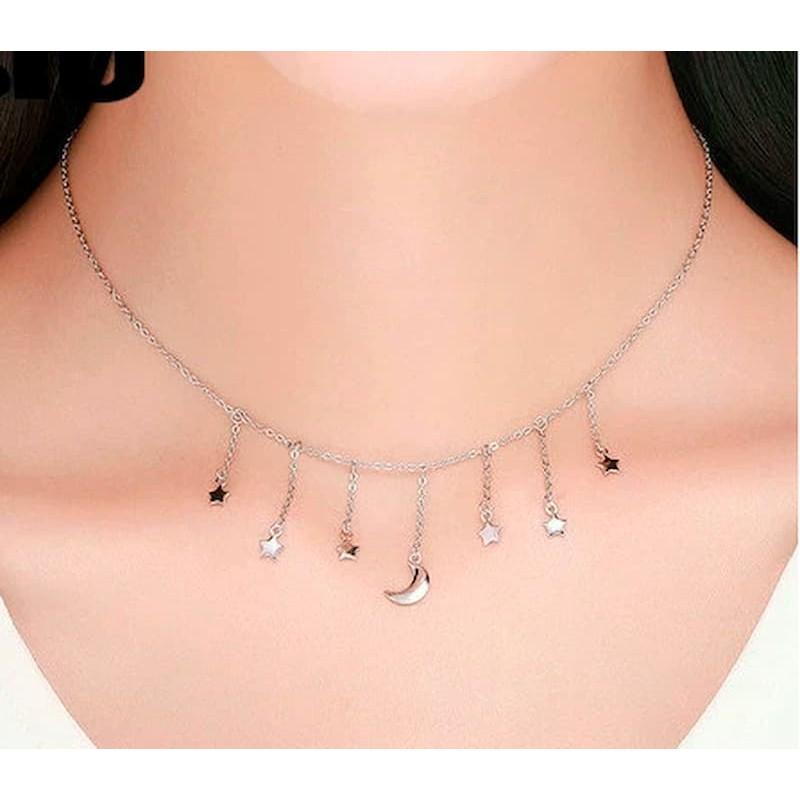 collares con charms de plata