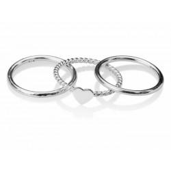 anillo triple de corazón