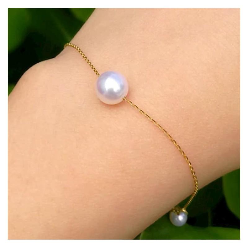 Pulsera de or con perlas cultivadas