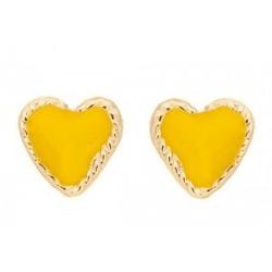 Pendientes corazón de oro 10 k