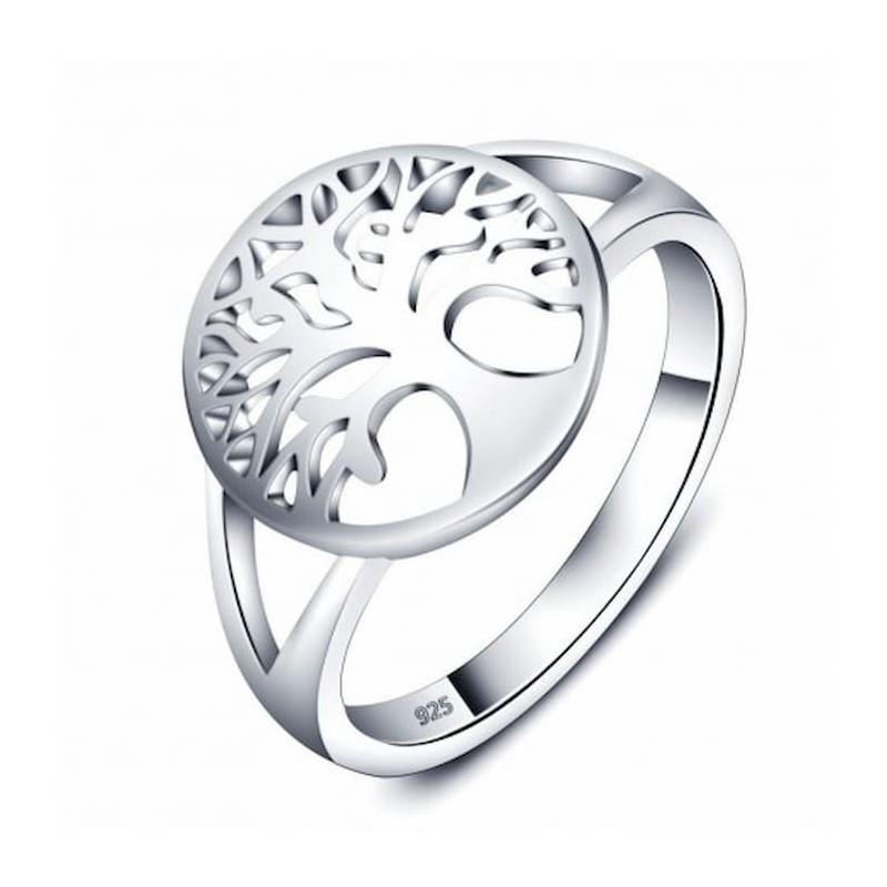 anillo de plata árbol de la vida