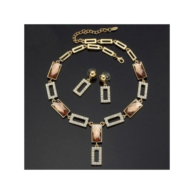 collar y pendientes de zafiros