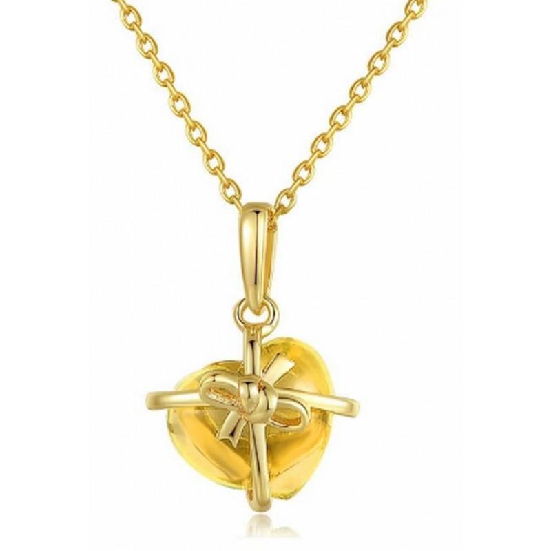 Collar de plata y oro amarillo