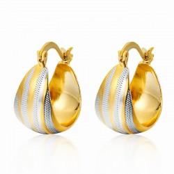 Pendientes para mujer acabado oro en dos tonos