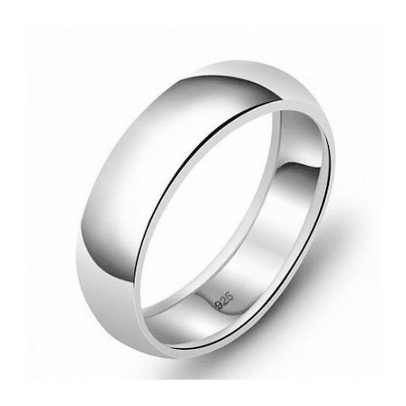 anillo de plata media caña