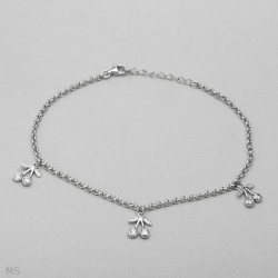 pulseras de plata fina con circonias